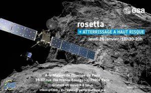 [Evénement partenaire] Rosetta, atterrissage à haut risque sur une comète, par la Maison de l'Europe de Paris