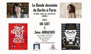 [Évènement Partenaire] Conférence La bande-dessinée de Berlin à Paris Maison de l'Europe de Paris