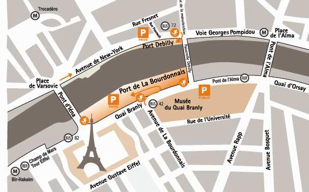 Plan bateaux parisiens